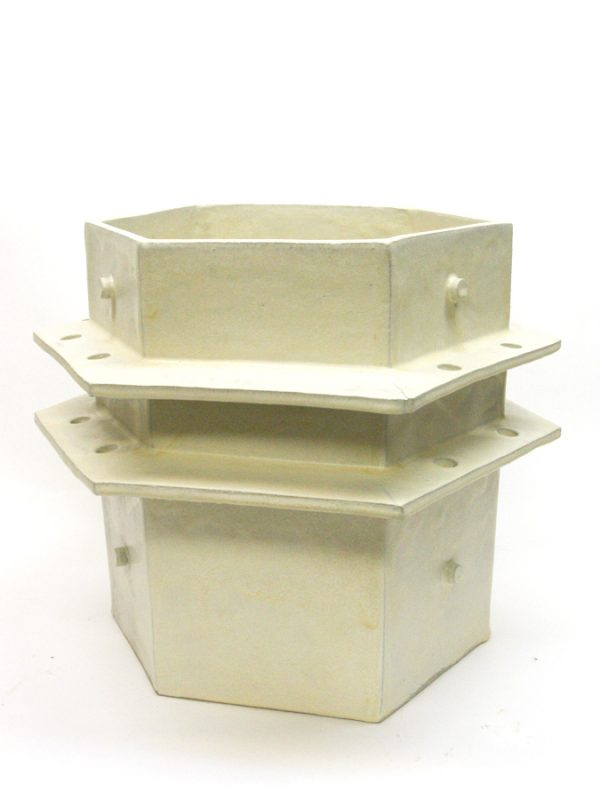 Cream Wing Planter, 19 x 19""