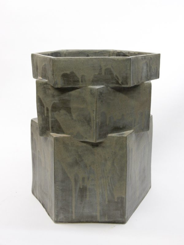 XXL Gray Hex Planter