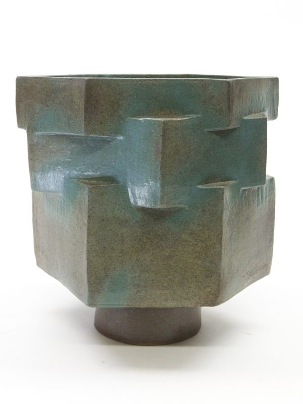 Teal Hex Planter