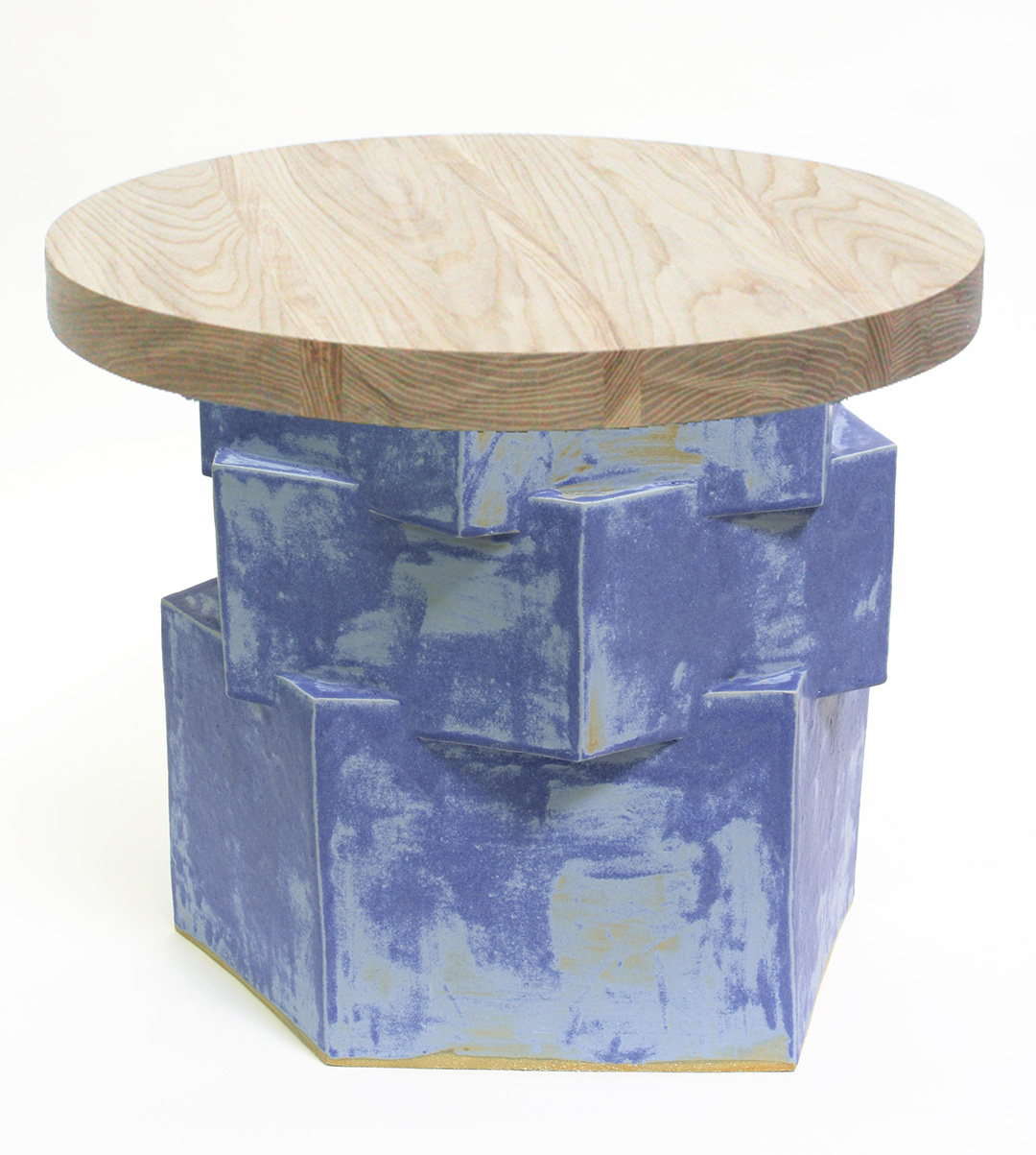 END TABLE WITH WOOD LOW