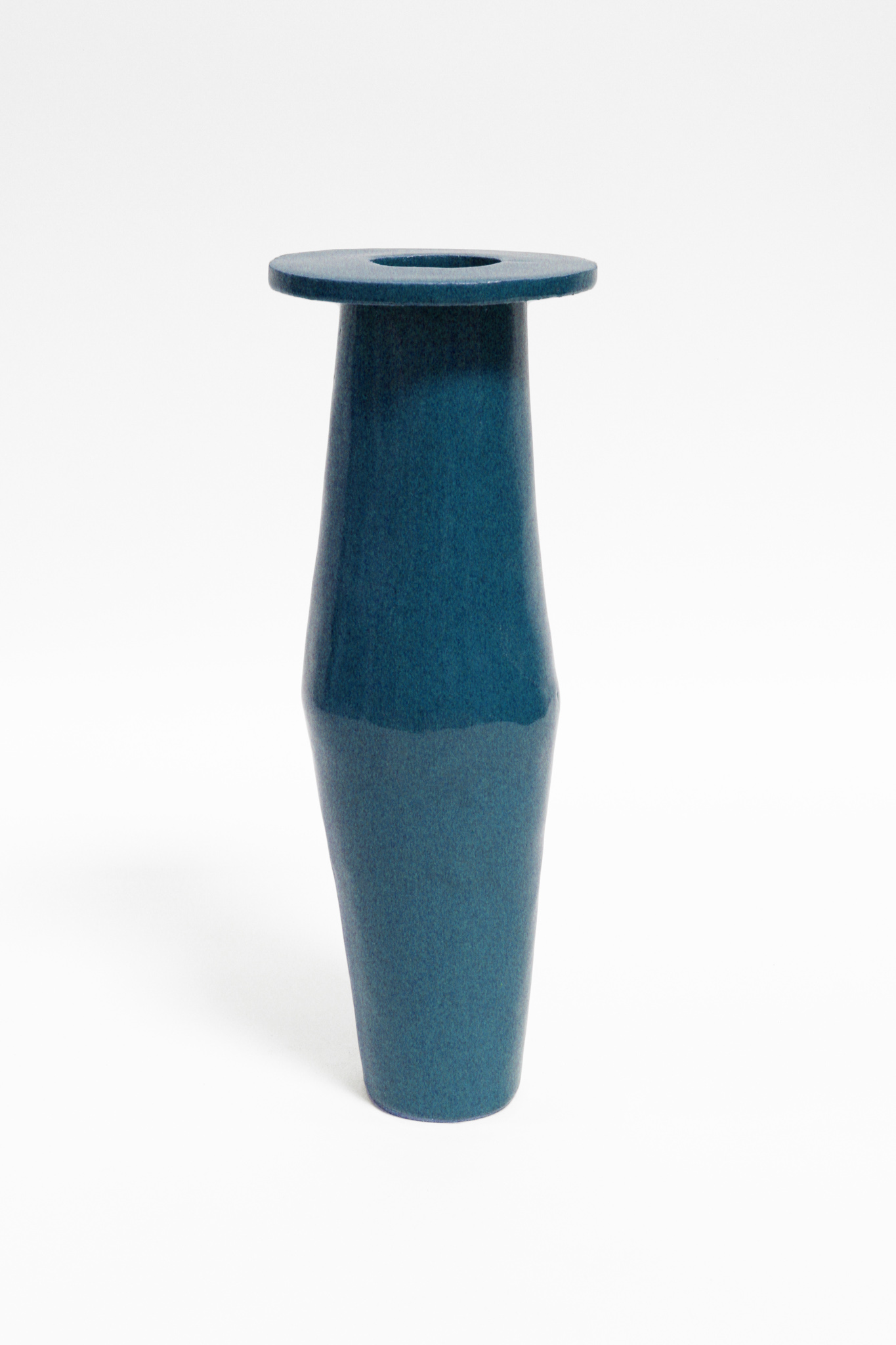 almost teal tall saucer